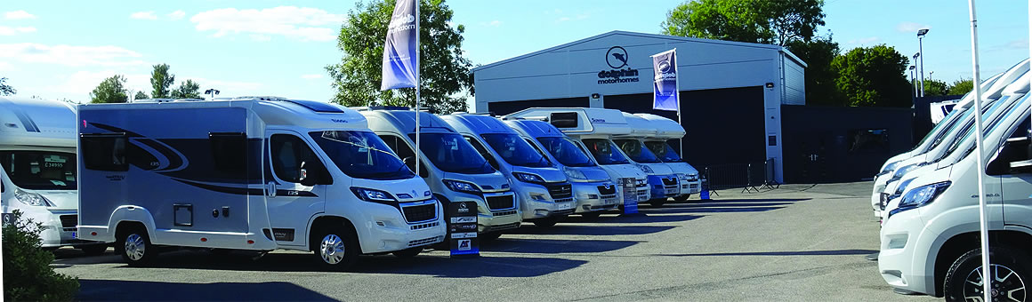 Dolphin Motorhomes Dorset forecourt display