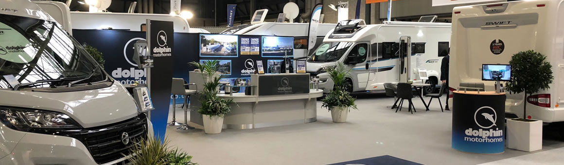 Dolphin Motorhomes Stand at the NEC Show in 2018
