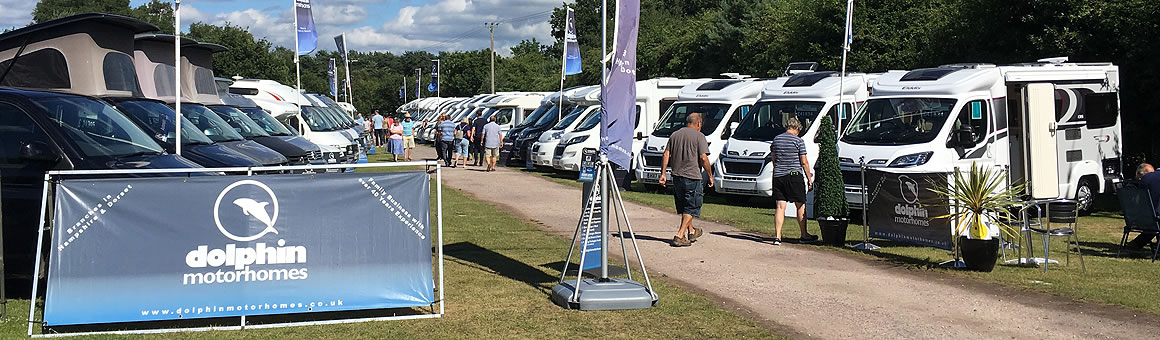 Motorhome display at our Shamba Event in 2017