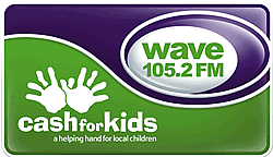 Wave 105 Cash For Kids Logo