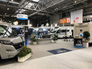 Dolphin Motorhome Stand at the NEC Show 2018