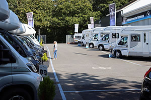 Dolphin Hampshire Motorhome Display From Bottom of Hill