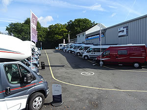 Hampshire Motorhome Display From Bottom of Hill