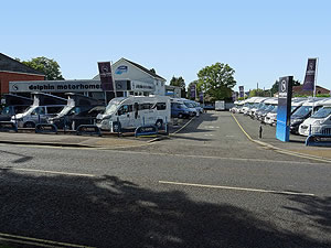 Dolphin Motorhomes Hampshire 2015 Motorhome Display From Road