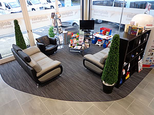 Dolphin Motorhomes Hampshire Showroom Customer Seating